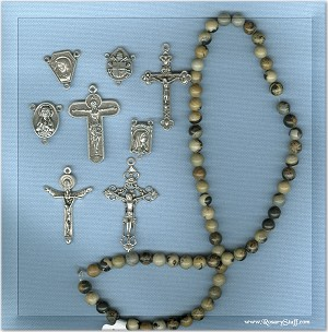 Custom Paintbrish Jasper 6mm Stone ROSARY